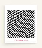 Het malplaatje van het dekkingsontwerp Zwart-wit ontwerp Patroon met optische illusie Abstracte 3d geometrische achtergrond Vecto royalty-vrije illustratie