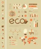 Het Malplaatje van ecologieinfographic Stock Afbeeldingen