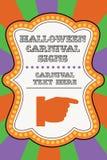 Het malplaatje van Halloween Carnaval royalty-vrije illustratie