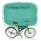 Het malplaatje van hand trekt fiets Royalty-vrije Illustratie