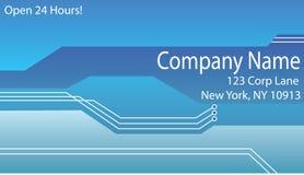 Het Malplaatje van het Adreskaartje Stock Fotografie