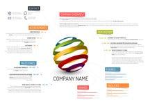 Het malplaatje van het bedrijfoverzicht Royalty-vrije Stock Fotografie