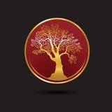 Het malplaatje van het boomembleem Groeiend bedrijfsconcept esp10 Stock Foto