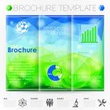 Het Malplaatje van het brochureontwerp Stock Foto's