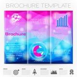 Het Malplaatje van het brochureontwerp Stock Afbeelding