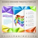 Het Malplaatje van het brochureontwerp Stock Afbeeldingen