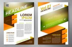 Het malplaatje van het brochureontwerp a4 Stock Afbeelding