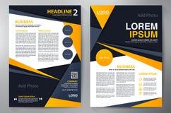 Het malplaatje van het brochureontwerp a4 Stock Foto