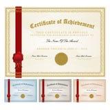 Het malplaatje van het certificaat stock illustratie