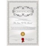 Het malplaatje van het certificaat Stock Afbeeldingen