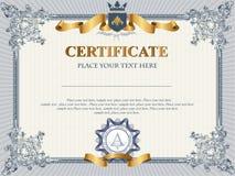Het malplaatje van het certificaat Stock Foto