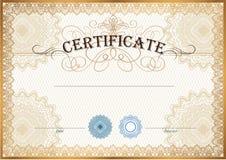 Het malplaatje van het certificaat Royalty-vrije Stock Afbeeldingen