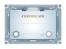 Het malplaatje van het certificaat Stock Afbeelding