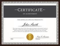 Het malplaatje van het certificaat Royalty-vrije Stock Afbeelding
