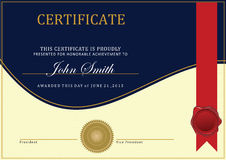 Het malplaatje van het certificaat Royalty-vrije Stock Fotografie