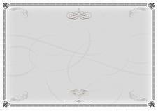 Het Malplaatje van het certificaat Grijze v2 Stock Fotografie