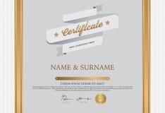 Het Malplaatje van het certificaatontwerp Royalty-vrije Stock Afbeeldingen