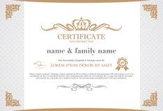 Het Malplaatje van het certificaatontwerp Stock Fotografie
