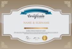 Het Malplaatje van het certificaatontwerp Royalty-vrije Stock Fotografie