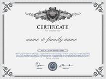 Het Malplaatje van het certificaatontwerp Stock Afbeeldingen