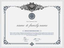 Het Malplaatje van het certificaatontwerp Royalty-vrije Stock Foto's