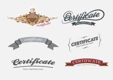 Het Malplaatje van het certificaatontwerp Stock Foto