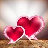 Het malplaatje van het de bellenontwerp van de harttoespraak. EPS 10 Stock Fotografie