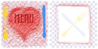 Het malplaatje van het de kaartontwerp van het menu, stock illustratie