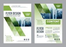 Het malplaatje van het de Lay-outontwerp van de groenbrochure De Presentatie van de het Pamfletdekking van de Jaarverslagvlieger Royalty-vrije Stock Afbeelding