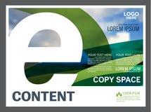 Het malplaatje van het de lay-outontwerp van de groenpresentatie De pagina van de jaarverslagdekking Stock Fotografie