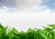 Het malplaatje van het de lay-outontwerp van de groenpresentatie De pagina van de jaarverslagdekking Stock Afbeeldingen