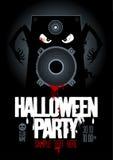 Het malplaatje van het de partijontwerp van Halloween. Royalty-vrije Stock Afbeeldingen