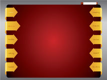 Het malplaatje van het de pijlWeb van het lint Royalty-vrije Stock Afbeeldingen