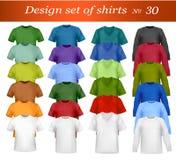 Het malplaatje van het de t-shirtontwerp van de kleur. Vector. Stock Foto