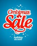 Het malplaatje van het de verkoopontwerp van Kerstmis. Stock Fotografie