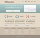 Het malplaatje van het de websiteontwerp van Editable Royalty-vrije Stock Fotografie