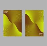 Het malplaatje van het dekkingsontwerp, abstracte gradiëntachtergrond Stock Foto's