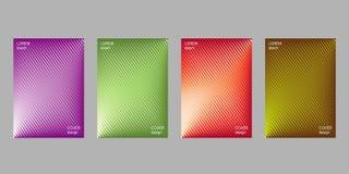 Het malplaatje van het dekkingsontwerp, abstracte gradiëntachtergrond Stock Afbeeldingen