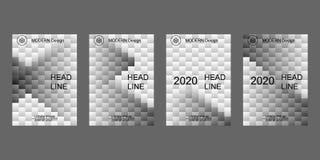 Het malplaatje van het dekkingsontwerp, vat geometrische achtergrond samen Royalty-vrije Stock Afbeeldingen