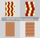 Het malplaatje van het dekkingsontwerp Vectorblocnotelay-out, geometrische achtergrond, afficheontwerp Stock Afbeelding