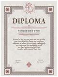 Het malplaatje van het diploma Royalty-vrije Stock Fotografie