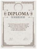 Het malplaatje van het diploma Stock Foto
