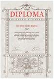 Het malplaatje van het diploma Stock Fotografie