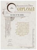 Het malplaatje van het diploma Stock Foto's