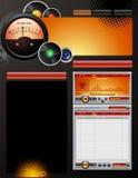 Het Malplaatje van het Etiket van het verslag vector illustratie