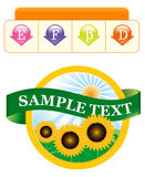Het malplaatje van het etiket voor een product Stock Foto's