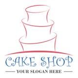 Het malplaatje van het het embleemontwerp van de cakewinkel vector illustratie