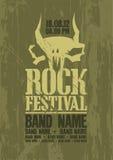Het malplaatje van het het festivalontwerp van de rots. vector illustratie