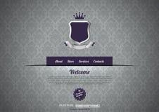 Het malplaatje van het het ontwerpWeb van Wintage Royalty-vrije Stock Fotografie