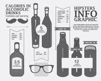 Het Malplaatje van het Hipstersinfographicontwerp Stock Foto